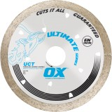 Ox Ultimate UCT Continuous Rim Diamond Blade   All Tiles